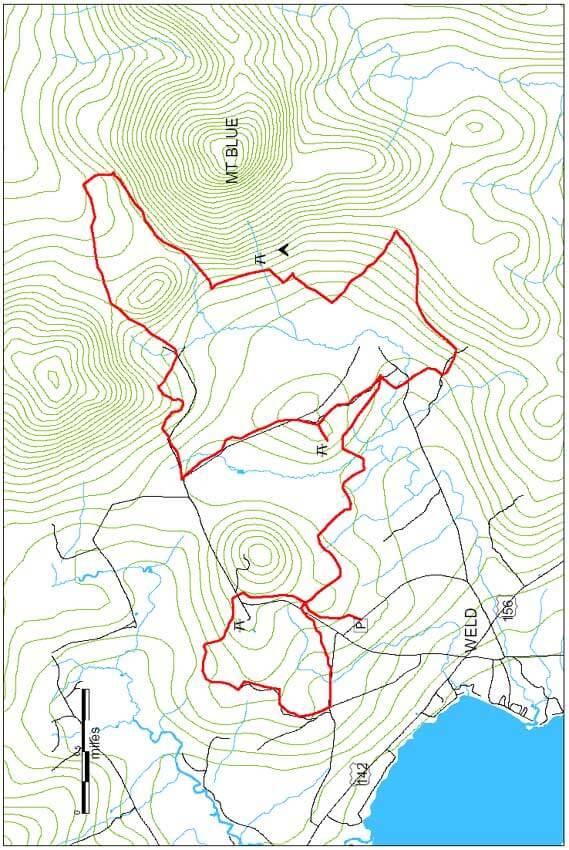 Mount Blue State Park Mountain Biking Map
