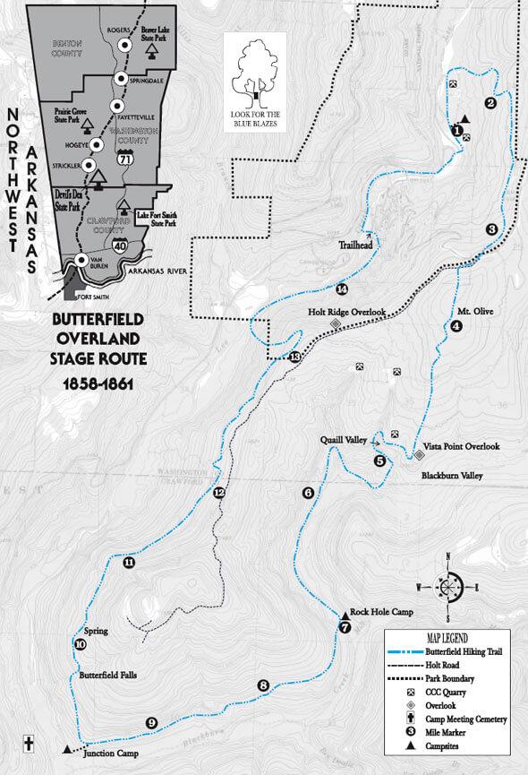 Butterfield Trail Mountain Biking Map