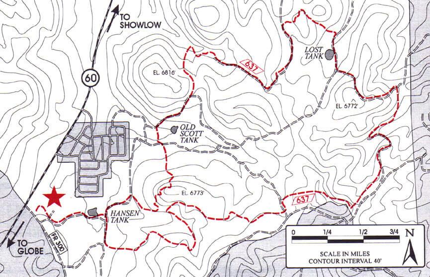 Buena Vista Trail Hiking Map