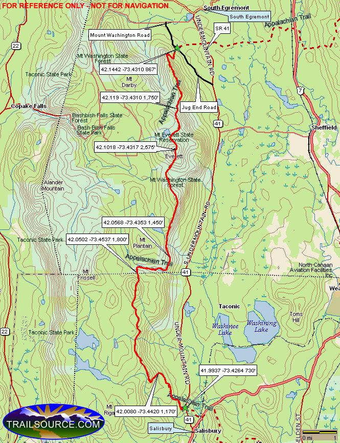 Appalachian Trail - Riga Plateau Hiking Map