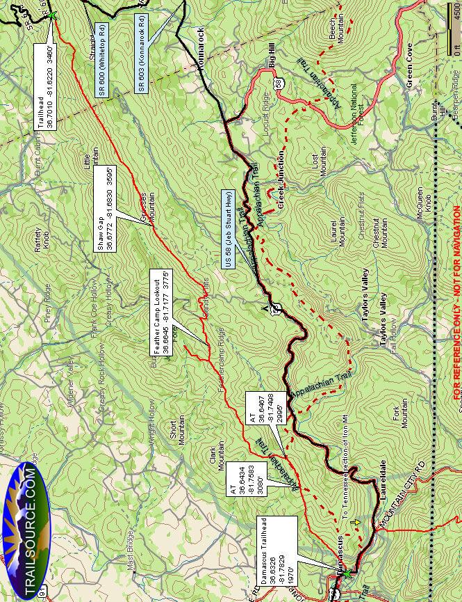 Iron Mountain Hiking Map