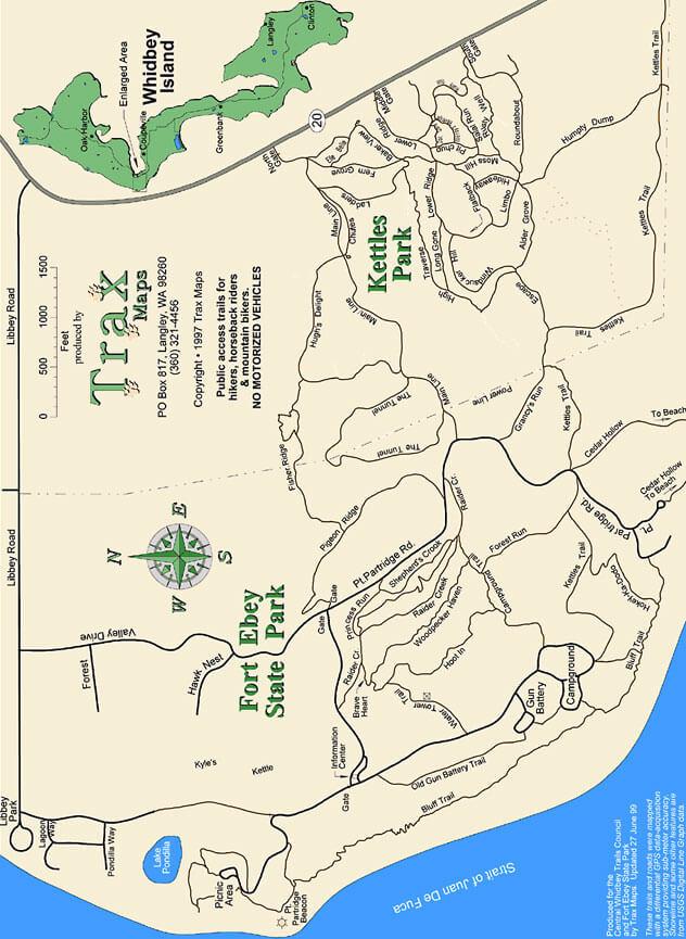 Kettles Trail Network Mountain Biking Map