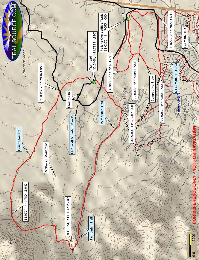 McDowell Mountain Park Mountain Biking Map