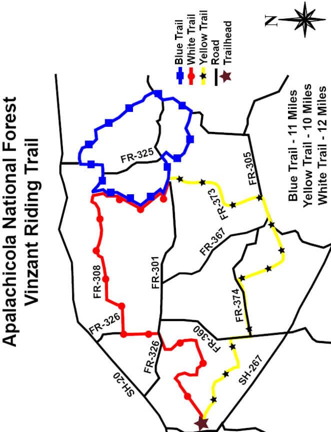 Vinzant Trail Mountain Biking Map