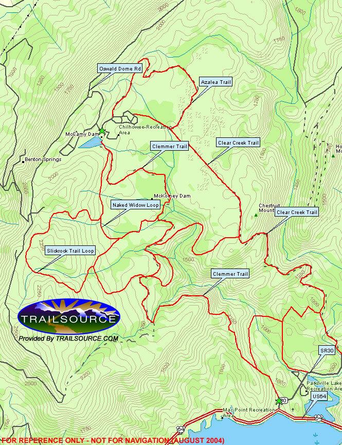 Chilhowee Mountain Mountain Biking Map