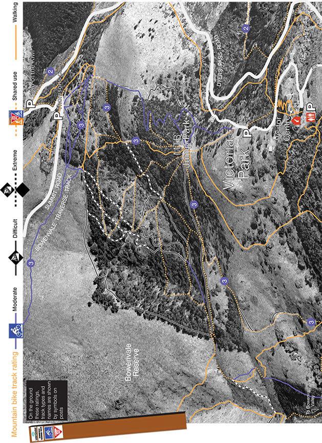 Port Hills - Victoria Park Mountain Biking Map