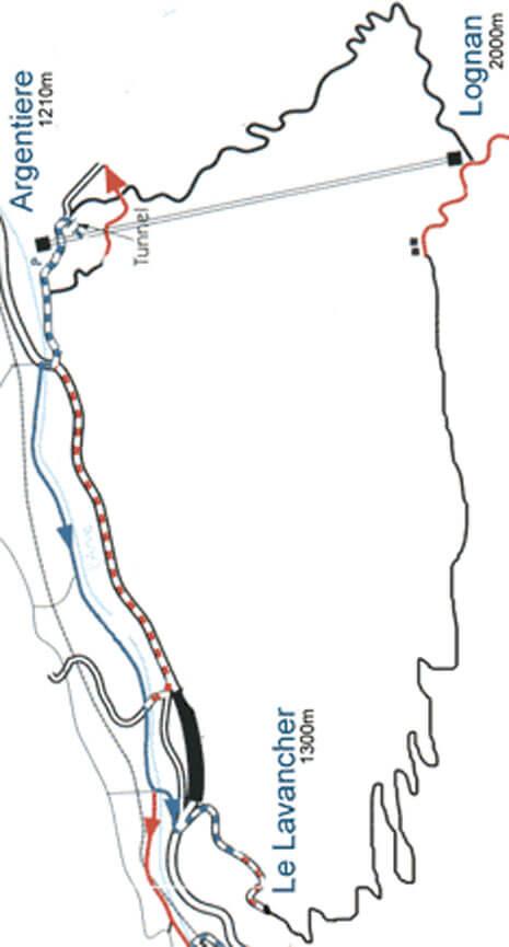 Lognan Mountain Biking Map