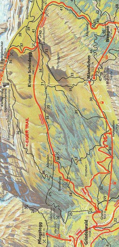 Eiger Trail Hiking Map