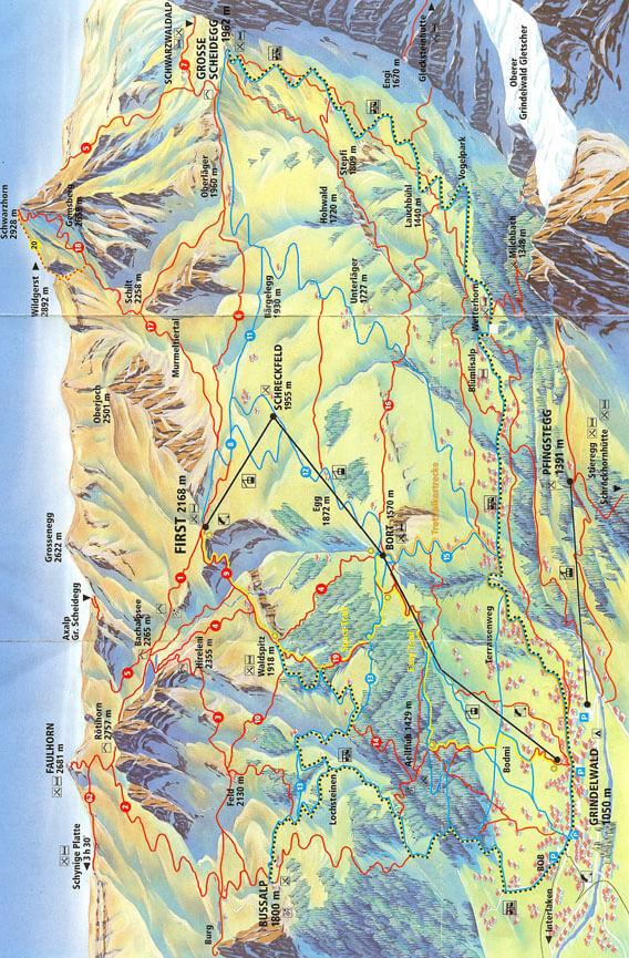 Alpenrose Trail Hiking Map