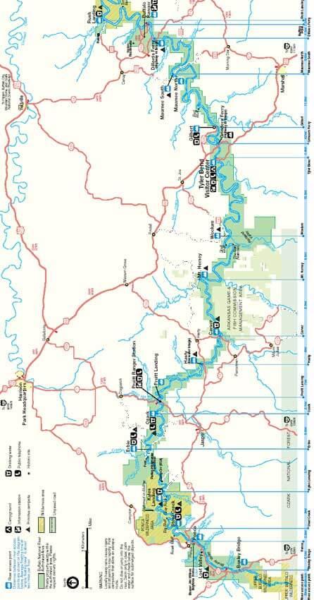 Buffalo National River Trail Hiking Map