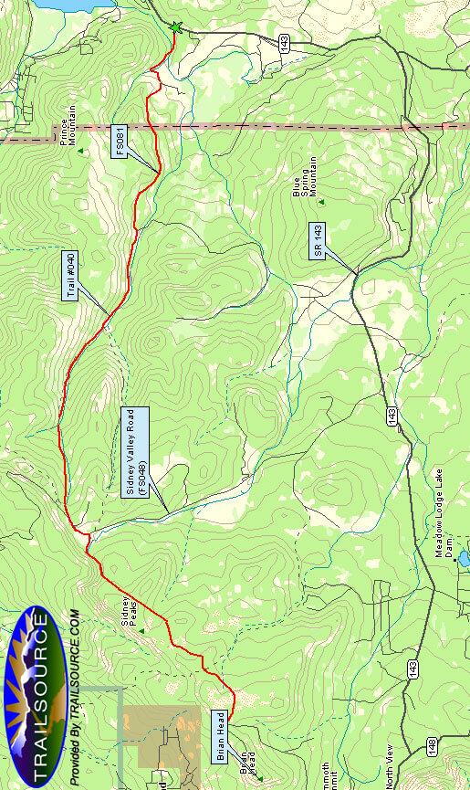 Bunker Creek Trail Mountain Biking Map