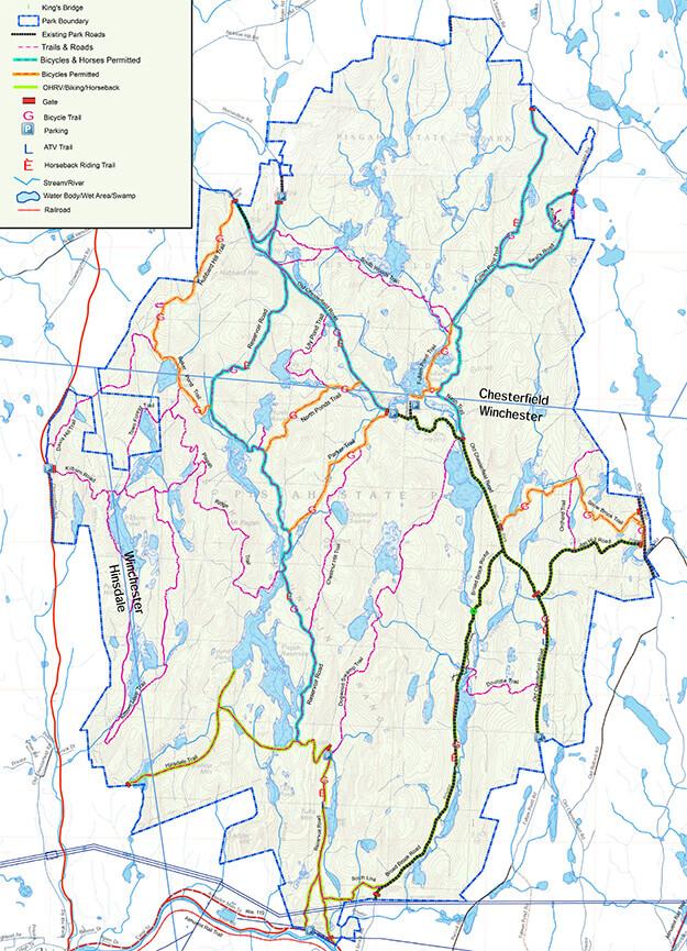 Pisgah State Park Hiking Map