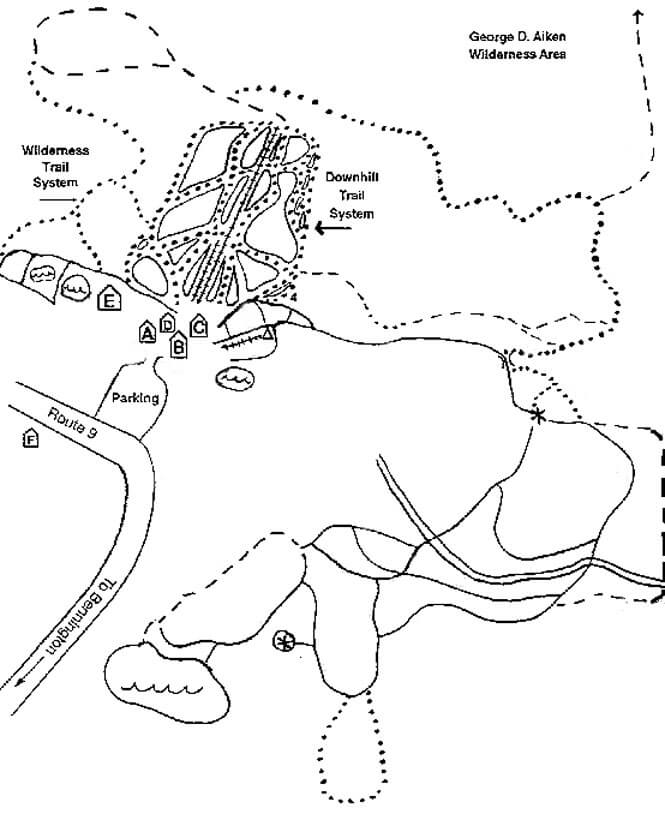 Prospect Mountain Cross Country Skiing Map
