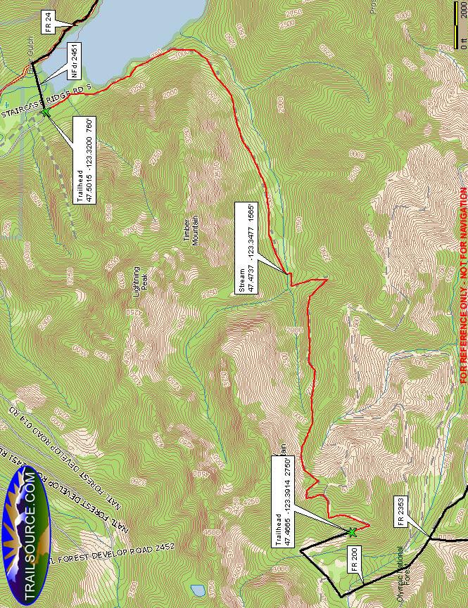 Dry Creek Trail Mountain Biking Map