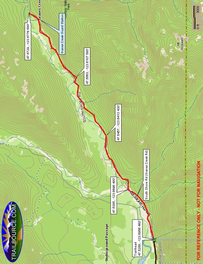 Graves Creek Road Mountain Biking Map