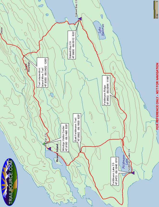 Feldtmann Ridge / Greenstone Ridge Loop Hiking Map