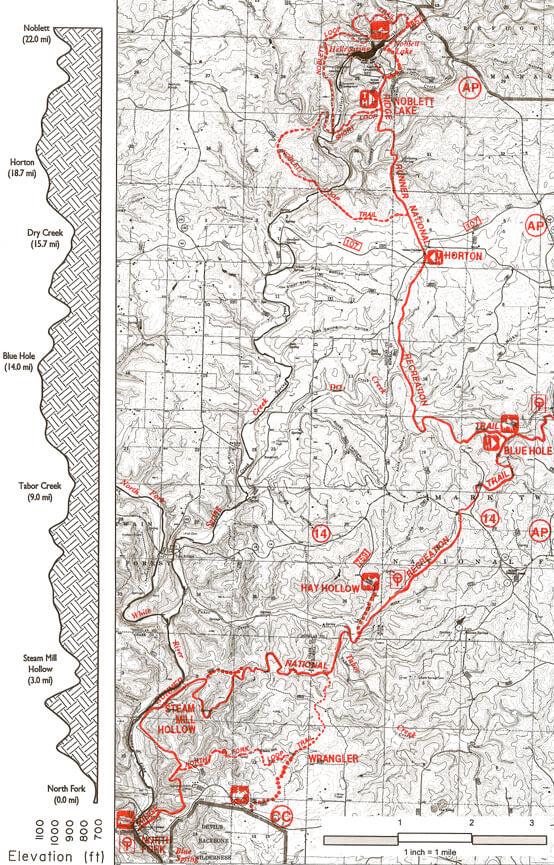 Ridge Runner Trail Mountain Biking Map