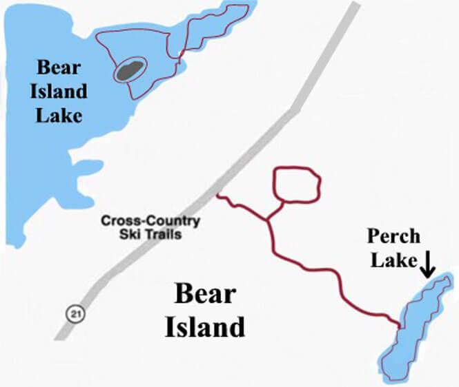 Bear Island - Lake Trail Cross Country Skiing Map