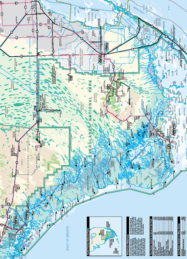 Everglade National Park Mountain Biking Map