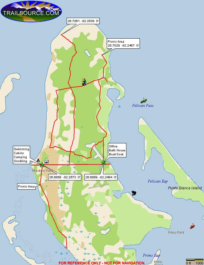 Cayo Costa State Park Mountain Biking Map