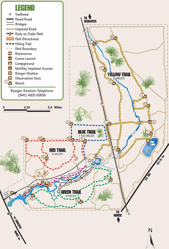 Oscar Scherer State Park Mountain Biking Map