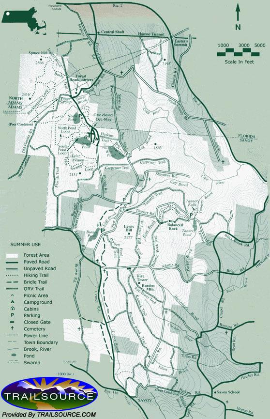 Borden Mountain Mountain Biking Map