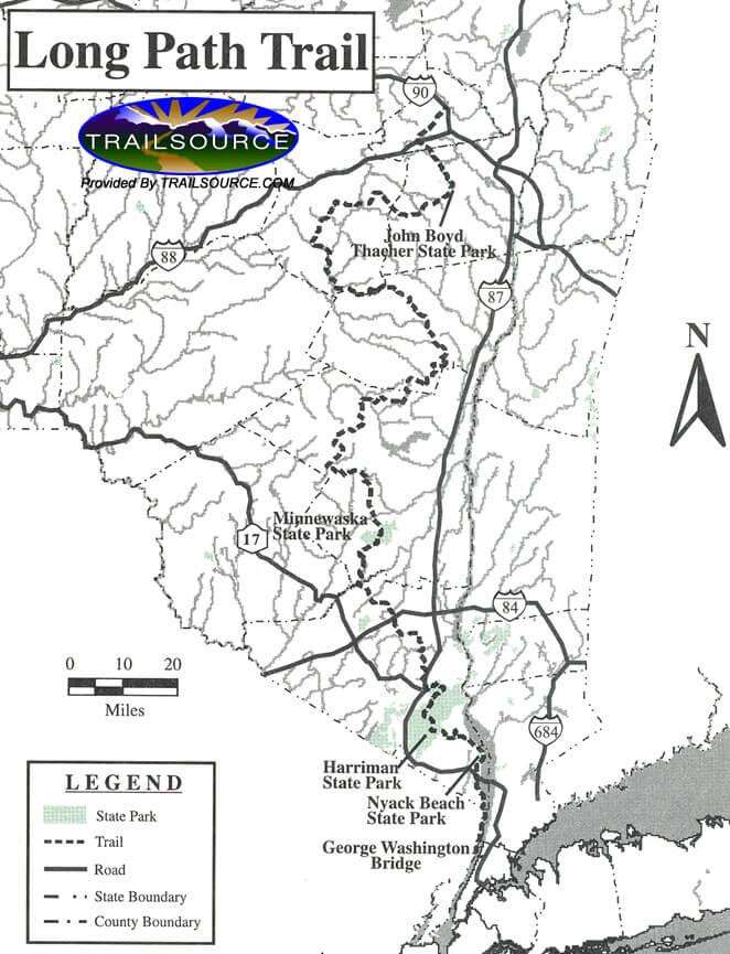 Long Path Hiking Map