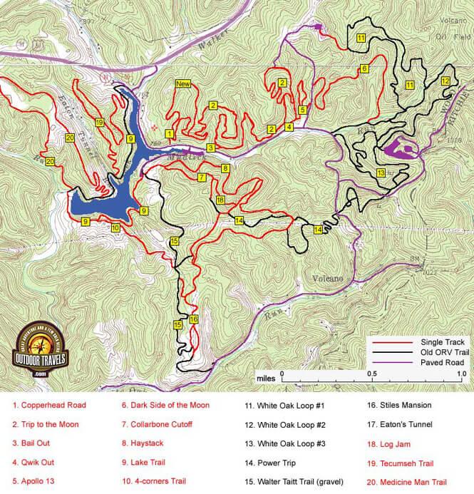 Mountwood Park Mountain Biking Map