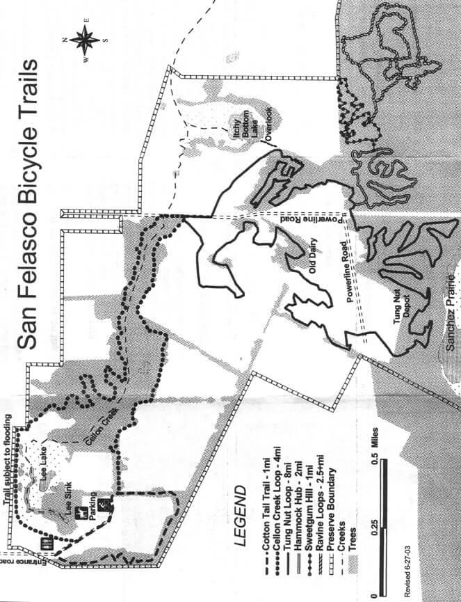San Felasco Hammock State Park Mountain Biking Map