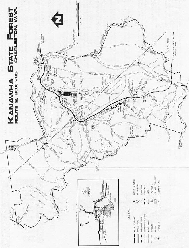 Kanawha State Forest Hiking Map