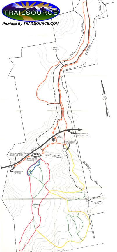 Laurel Ridge State Park Cross Country Skiing Map
