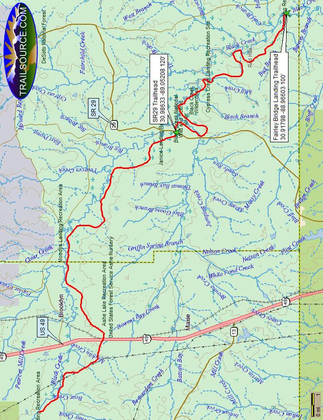Black Creek Trail Hiking Map