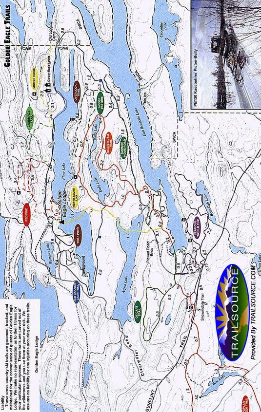 Bearskin Lodge Cross Country Skiing Map