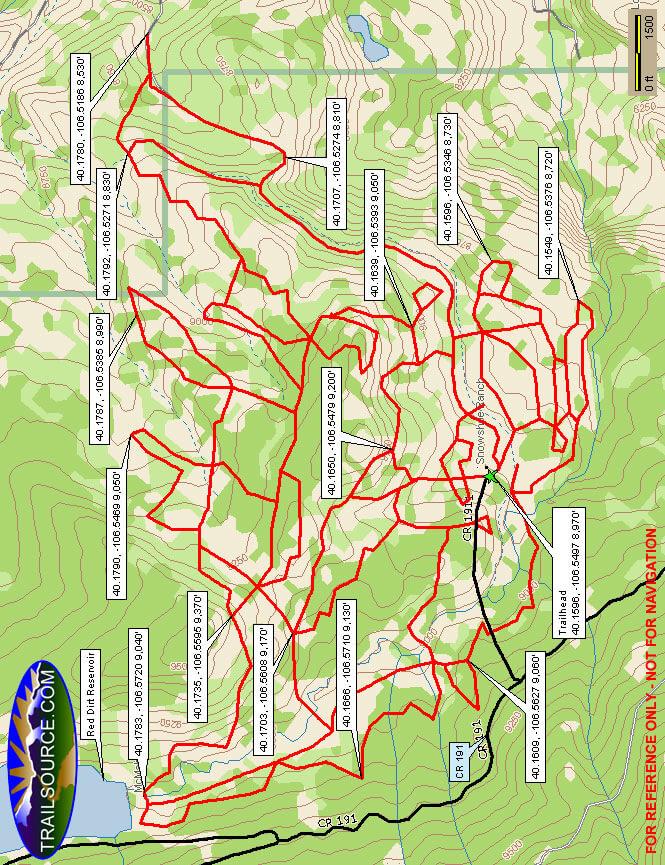 Latigo Ranch Cross Country Skiing Map