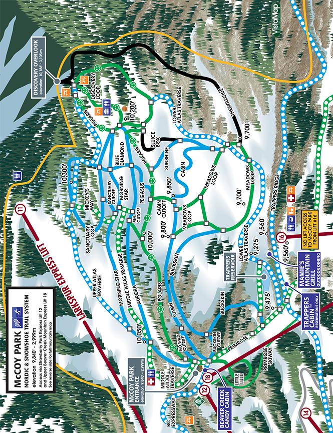 Beaver Creek Cross Country Skiing Map