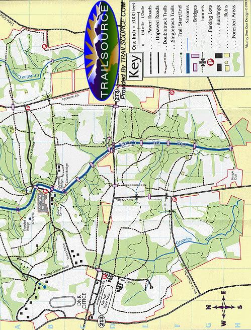 Fair Hill Natural Resource Management Area Mountain Biking Map