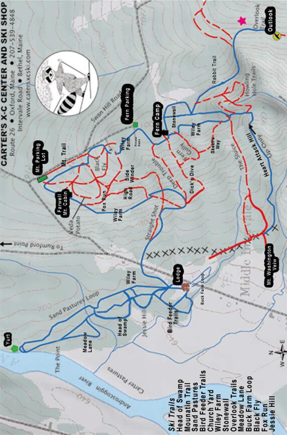 Sunday River XC Ski Cross Country Skiing Map