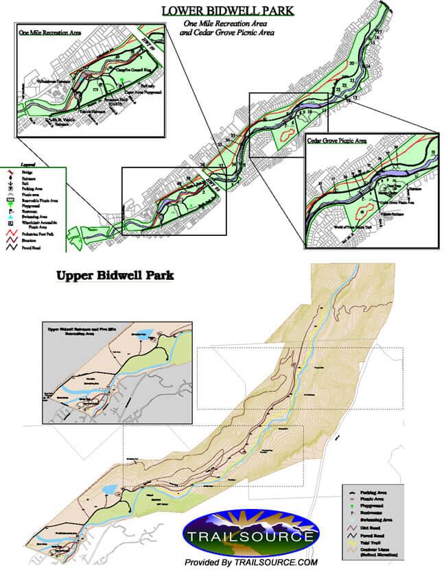 Yahi Trail Hiking Map