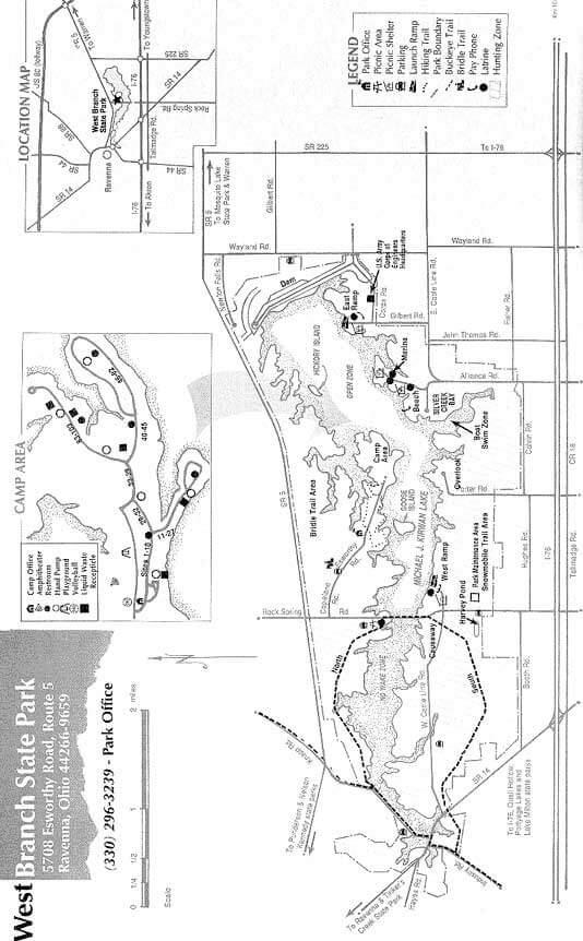 West Branch State Park Mountain Biking Map