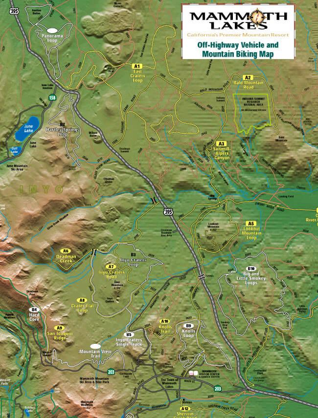 Knolls Loop Trail Mountain Biking Map