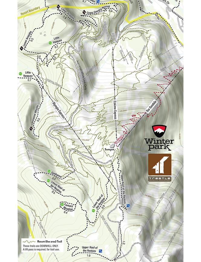Trestle Bike Park Mountain Biking Map