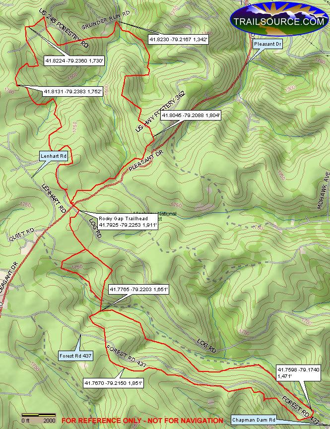 Rocky Gap ATV Trail ATV Trails Map