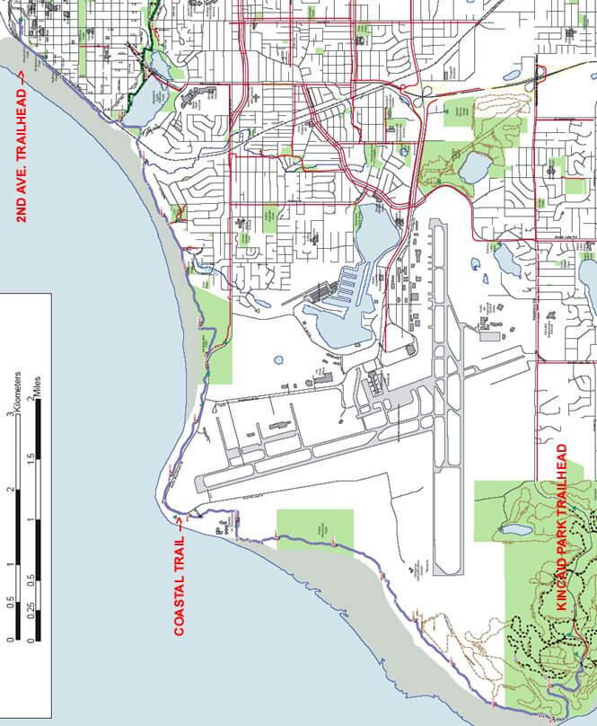 Tony Knowles Coastal Trail Cross Country Skiing Map