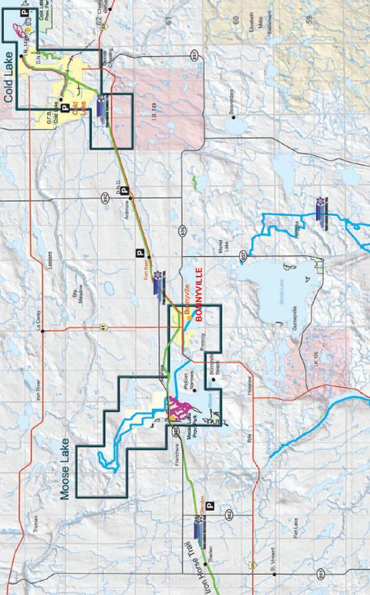 Bonnyville Snowmobiling Map