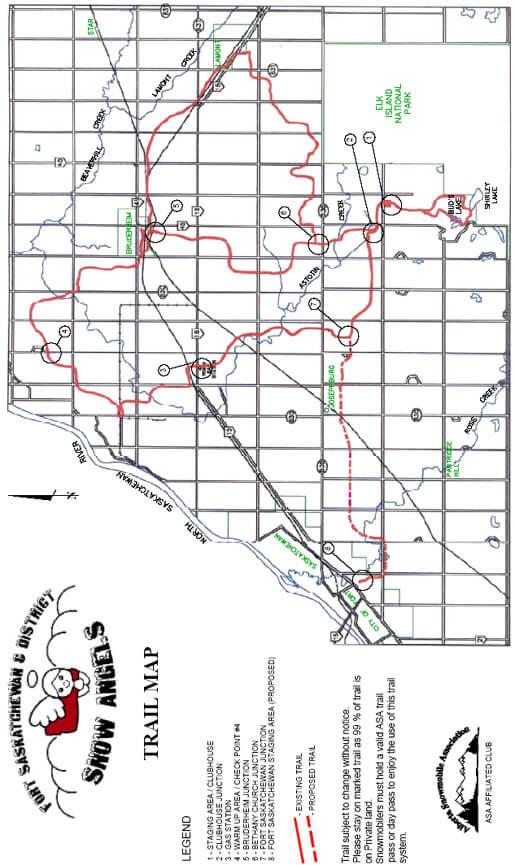 Fort Saskatchewan Snowmobiling Map
