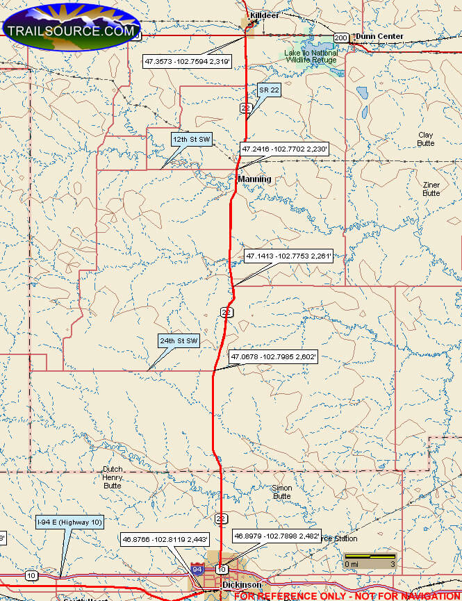 Little Missouri Trail System Snowmobiling Map