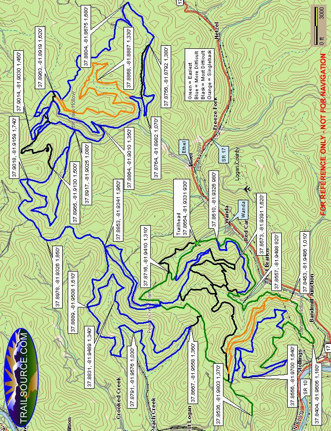 Dingess Rum ATV Trails ATV Trails Map