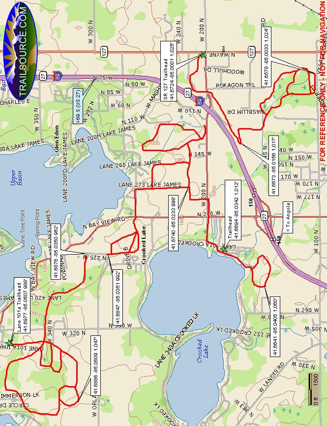 Potawatomi Snowmobile Trail Snowmobiling Map
