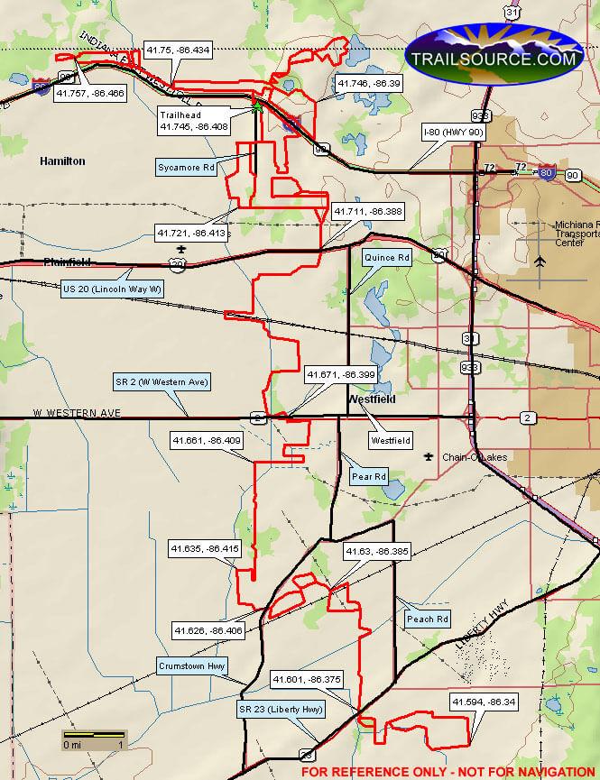 Buffalo Run Snowmobile Trail Snowmobiling Map