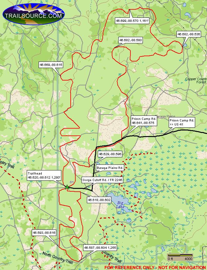 Baraga Plains ATV Trail ATV Trails Map